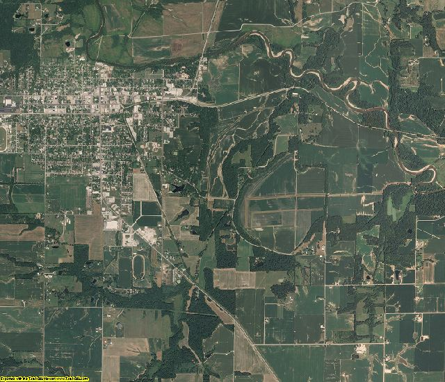Jasper County, Illinois aerial photography