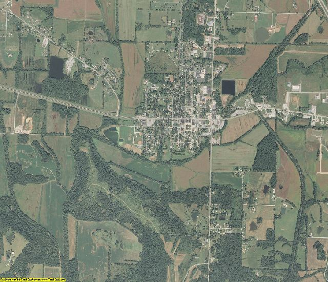Johnson County, Illinois aerial photography