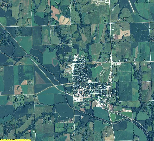 Johnson County, Nebraska aerial photography