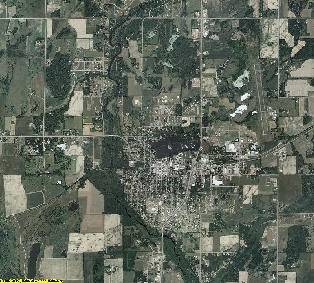 Kanabec County, Minnesota aerial photography