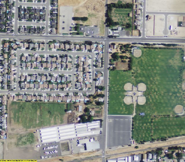 Kings County, CA aerial photography detail