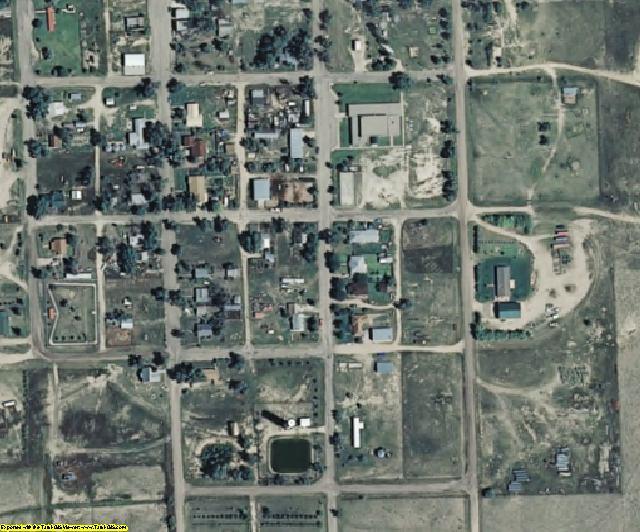 Kiowa County, CO aerial photography detail