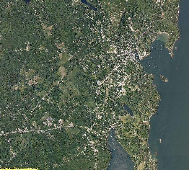 Knox County, Maine aerial photography