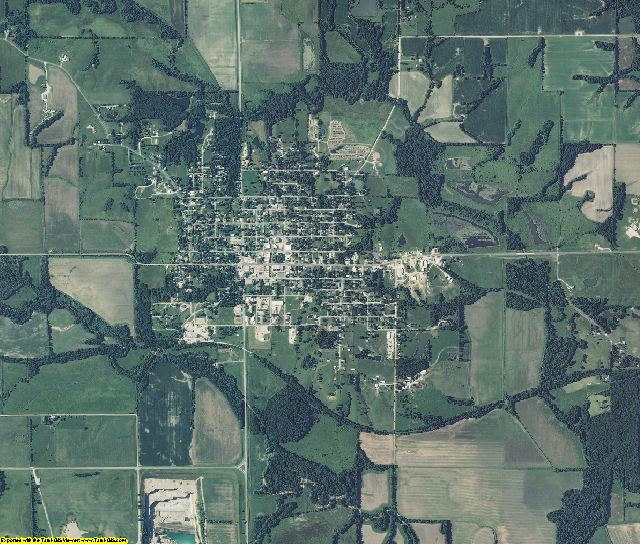 Knox County, Missouri aerial photography