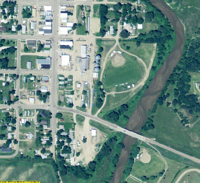 Knox County, NE aerial photography detail