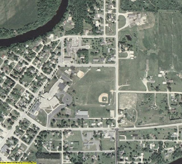 Koochiching County, MN aerial photography detail