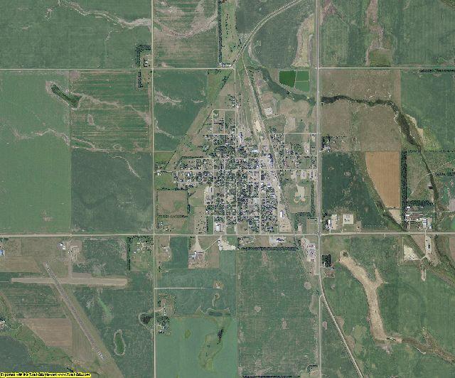 LaMoure County, North Dakota aerial photography
