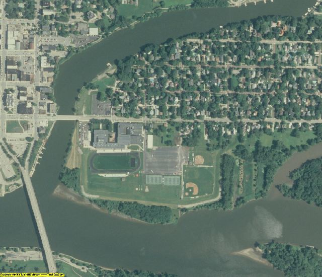 La Salle County, IL aerial photography detail