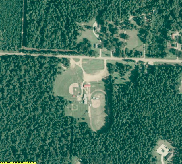 Lafayette County, AR aerial photography detail