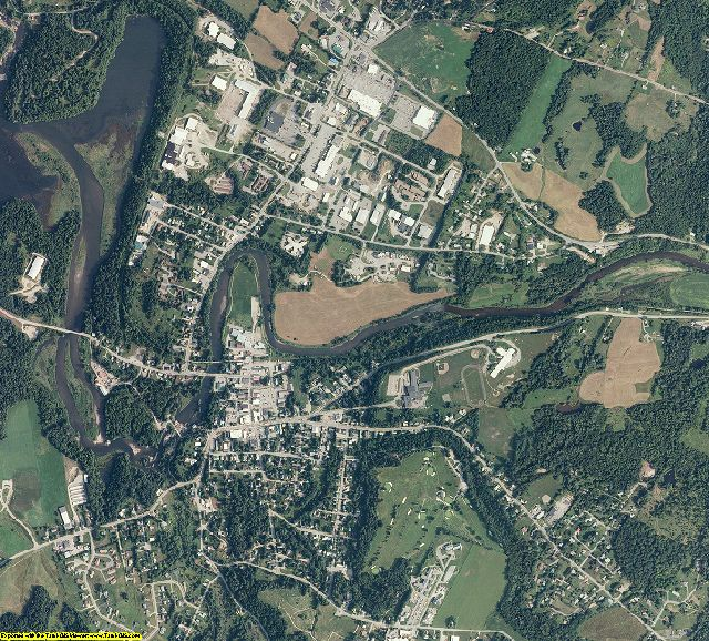 Lamoille County, Vermont aerial photography