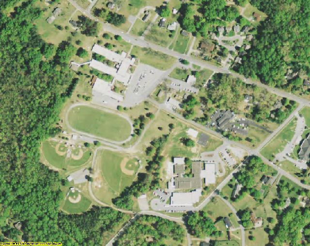 Laurens County, SC aerial photography detail