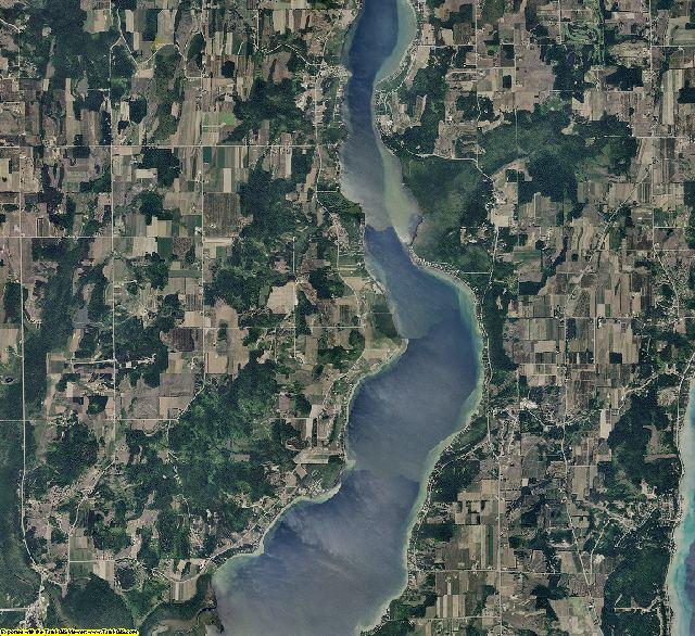 Leelanau County, Michigan aerial photography
