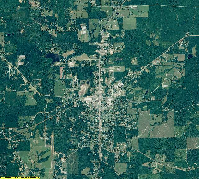 Lincoln County, Arkansas aerial photography