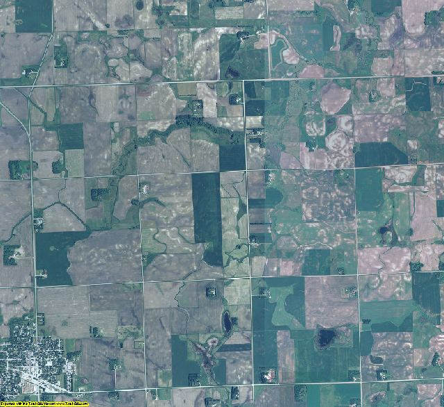 Lincoln County, Minnesota aerial photography