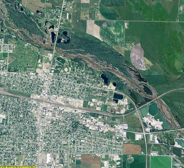 Lincoln County, Nebraska aerial photography
