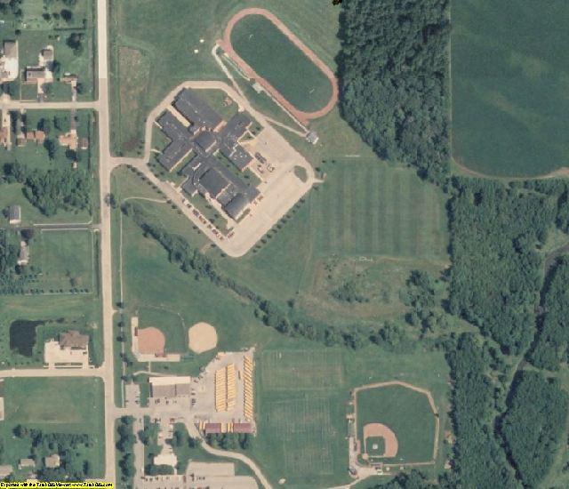 Linn County, IA aerial photography detail