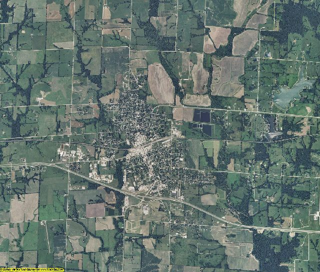 Linn County, Missouri aerial photography