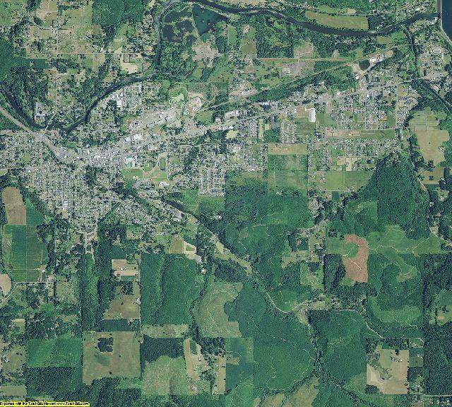 Linn County, Oregon aerial photography