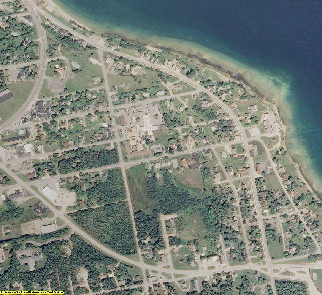 Mackinac County, MI aerial photography detail