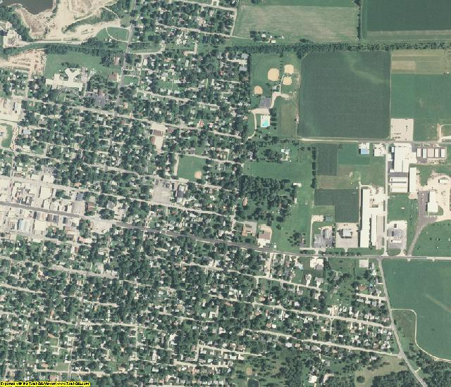 Marshall County, IL aerial photography detail