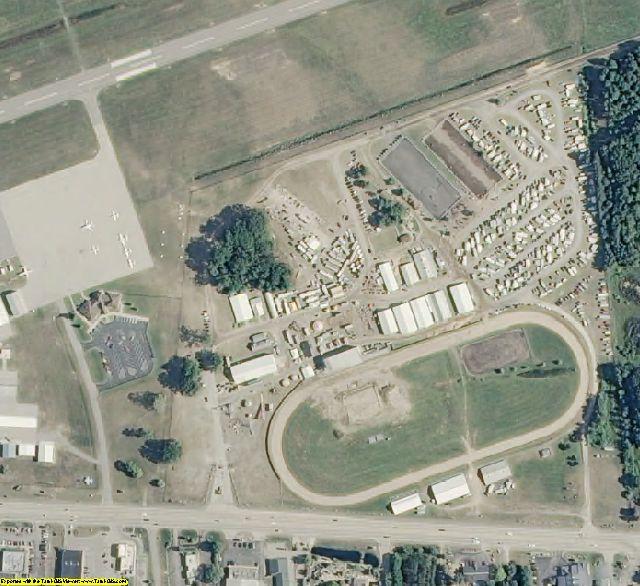 Mason County, MI aerial photography detail