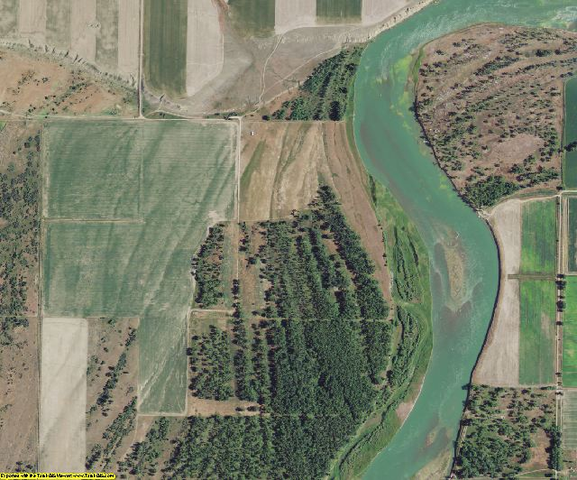 McCone County, MT aerial photography detail