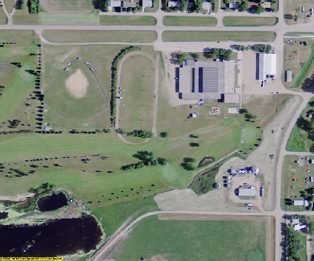 McIntosh County, ND aerial photography detail