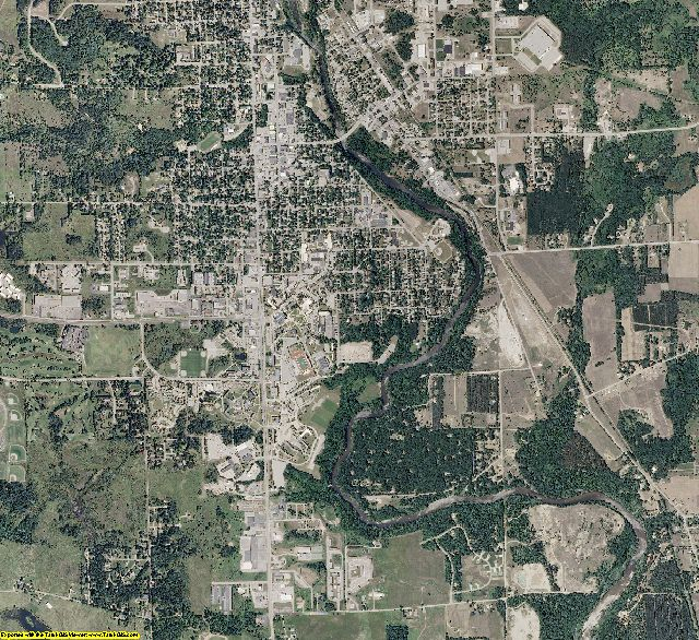 Mecosta County, Michigan aerial photography