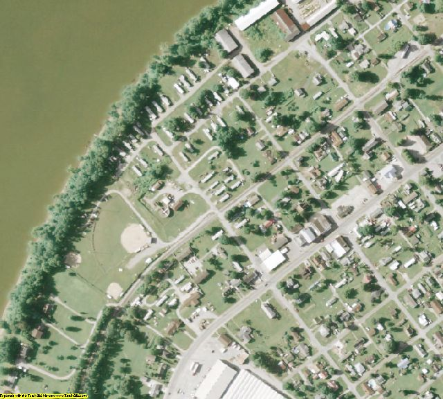 Meigs County, OH aerial photography detail