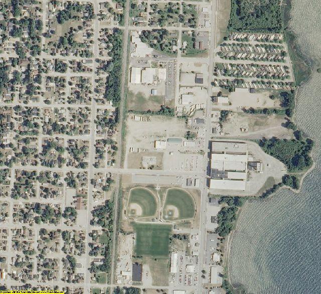 Menominee County, MI aerial photography detail