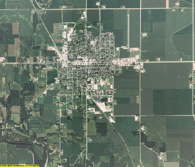 Mitchell County, Iowa aerial photography