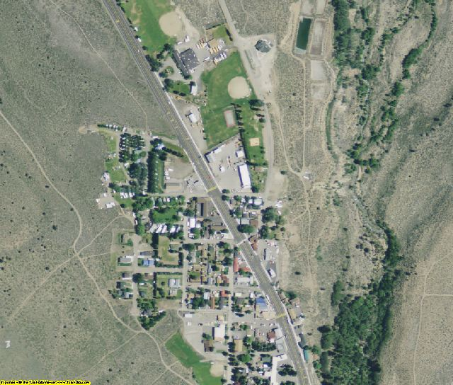 Mono County, CA aerial photography detail