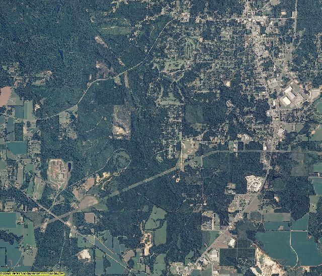 Monroe County, Alabama aerial photography