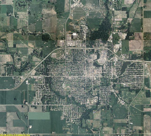 Mower County, Minnesota aerial photography