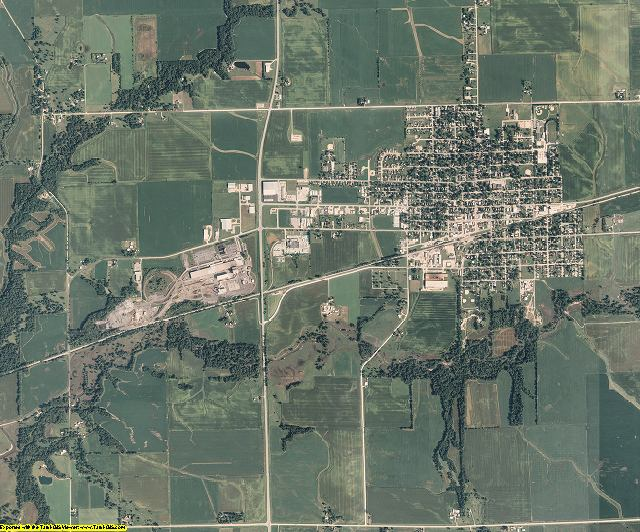 Muscatine County, Iowa aerial photography