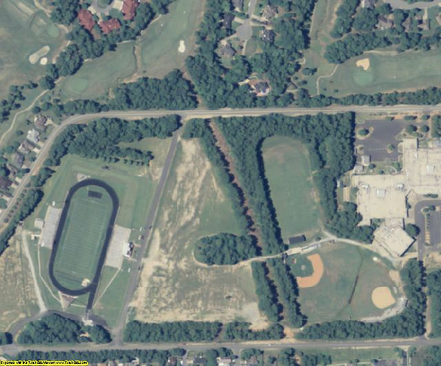 Muscogee County, GA aerial photography detail