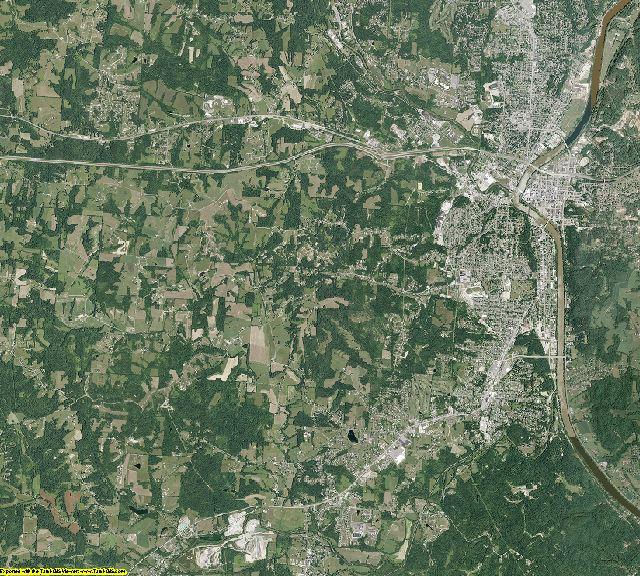 Muskingum County, Ohio aerial photography