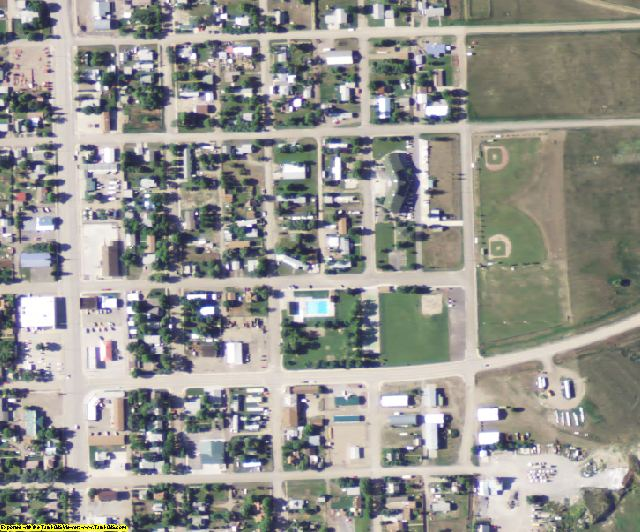 Musselshell County, MT aerial photography detail