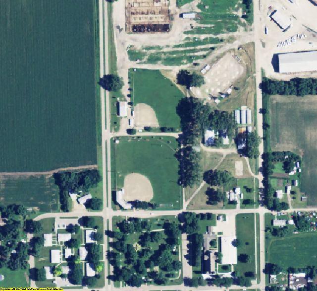 Nance County, NE aerial photography detail