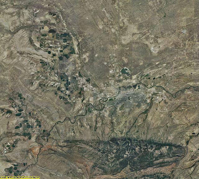 Natrona County, Wyoming aerial photography