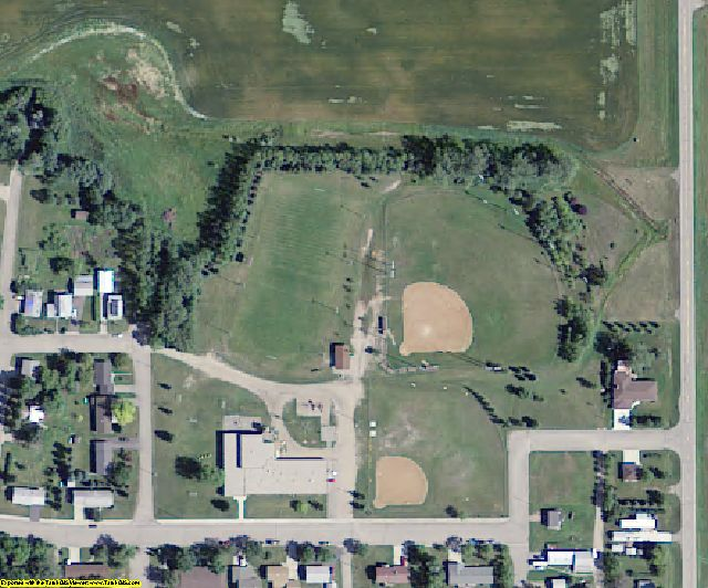 Nelson County, ND aerial photography detail