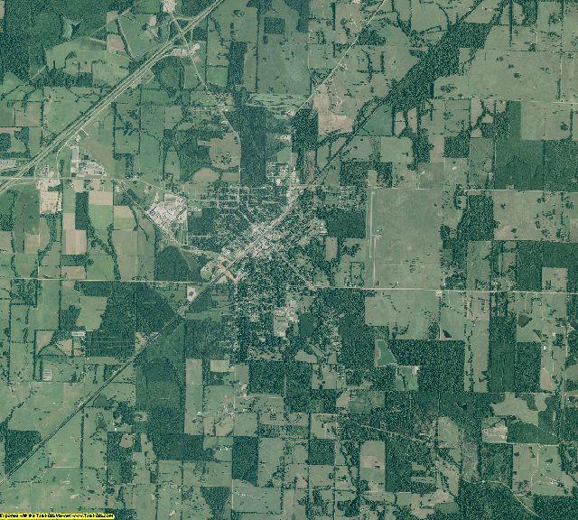 Nevada County, Arkansas aerial photography