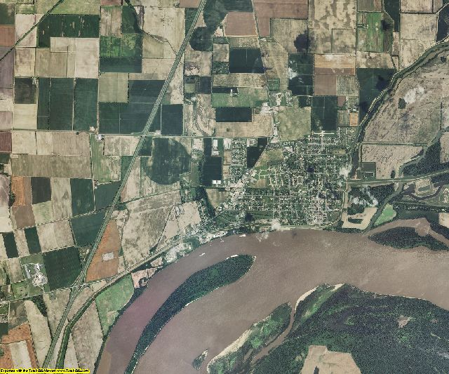 New Madrid County, Missouri aerial photography