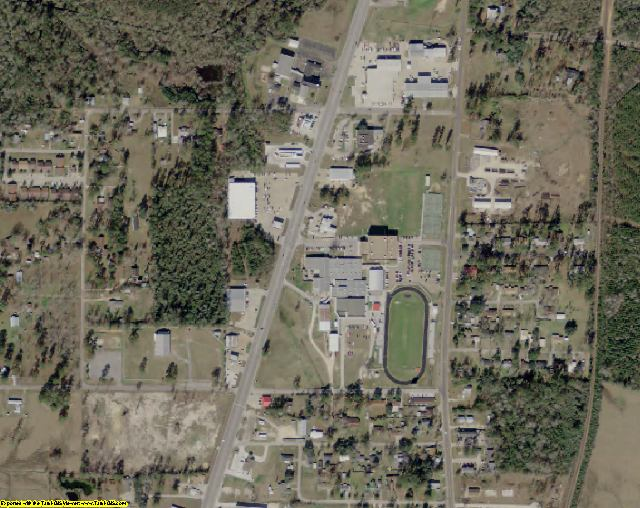 Newton County, TX aerial photography detail