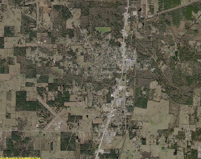 Newton County, Texas aerial photography
