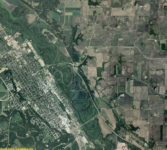 Nicollet County, Minnesota aerial photography