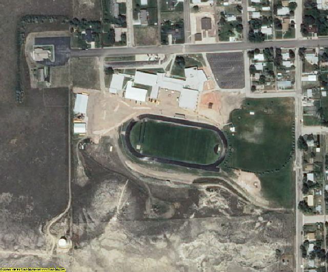 Niobrara County, WY aerial photography detail