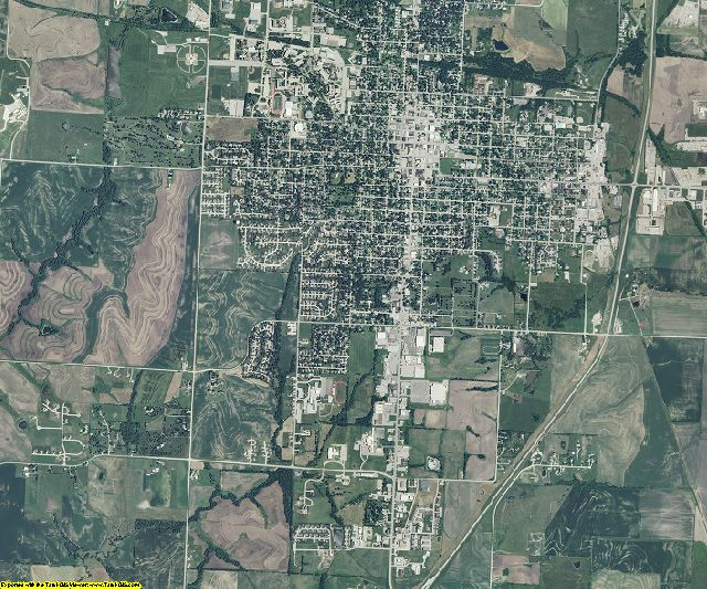 Nodaway County, Missouri aerial photography
