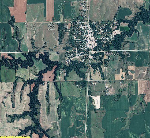 Nuckolls County, Nebraska aerial photography