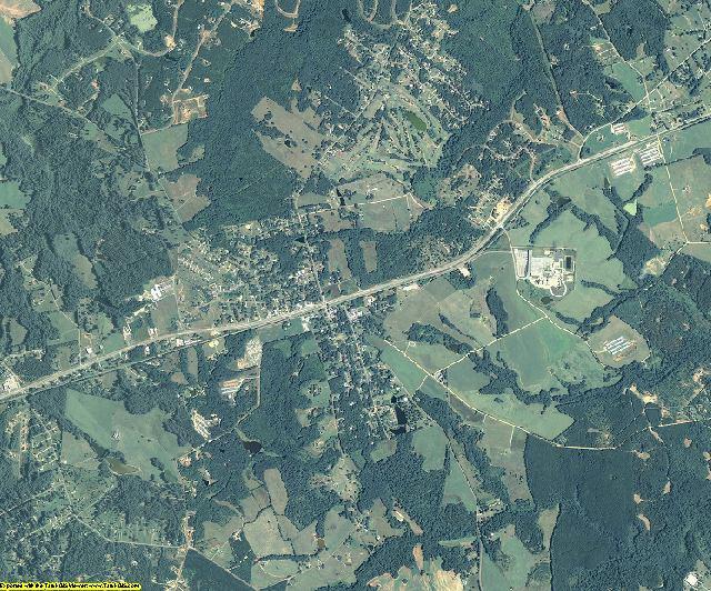 Oglethorpe County, Georgia aerial photography